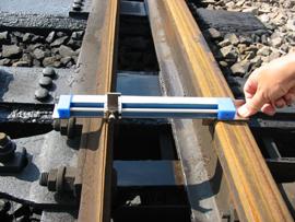 分岐器軌間線Ⅰ・Ⅱ寸法及びフランジウェー幅測定器幅