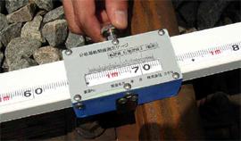 分岐器軌間線Ⅰ・Ⅱ寸法及びフランジウェー幅測定器目盛