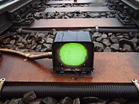 分岐器開通明示装置(LED明示灯)