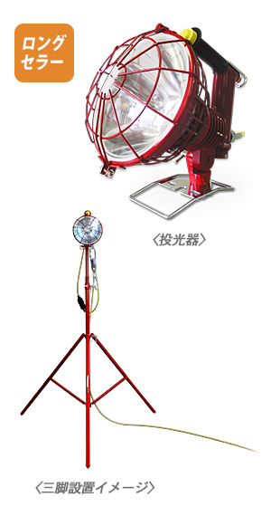 ロングセラー製品 信号器付投光器(KS-C型)